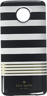 Z Play Droid kate spade new york Battery Case for Motorolo Z Droid Stripe 2 Black//White//Gold Foil