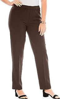 Roamans Women's Plus Size Petite Bend Over Classic Pant