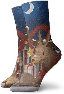 Luxury Calcetines de Deporte Reindeer Merry Christmas Women & Men Socks Soccer Sock Sport Tube Stockings Length 11.8Inch