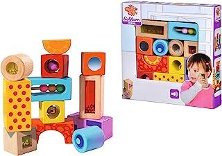 Eichhorn Eichhorn Holz-Soundbausteine, 12 bunt bedruckte Klangbausteine mit verschiedenen Geräuschen, Bausteine aus Birkenholz für Kinder ab 12 Monaten
