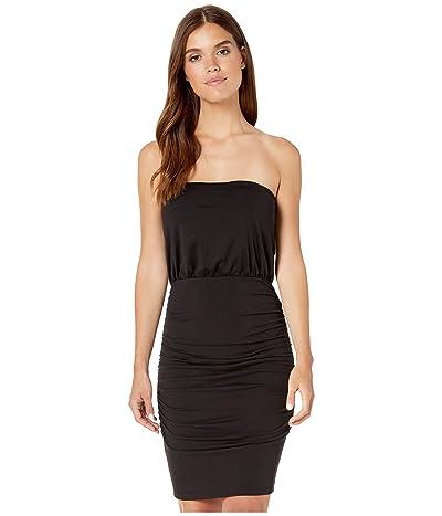 Susana Monaco Strapless Ruched Mini Dress (Black) Women