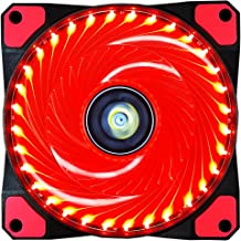 CONISY 120mm Computer Case Cooling Fan Ultra Quiet LED PC Gaming High Airflow Fans (Red)