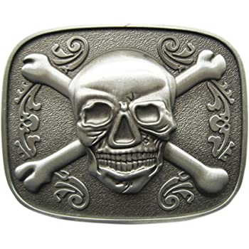 Original Dice Skull Tattoo Casino Oval Vintage Belt Buckle Stock in US