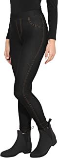 Damen Leggings Treggings Jeggings Hose Pants Blickdicht Stretch Muster CL 154