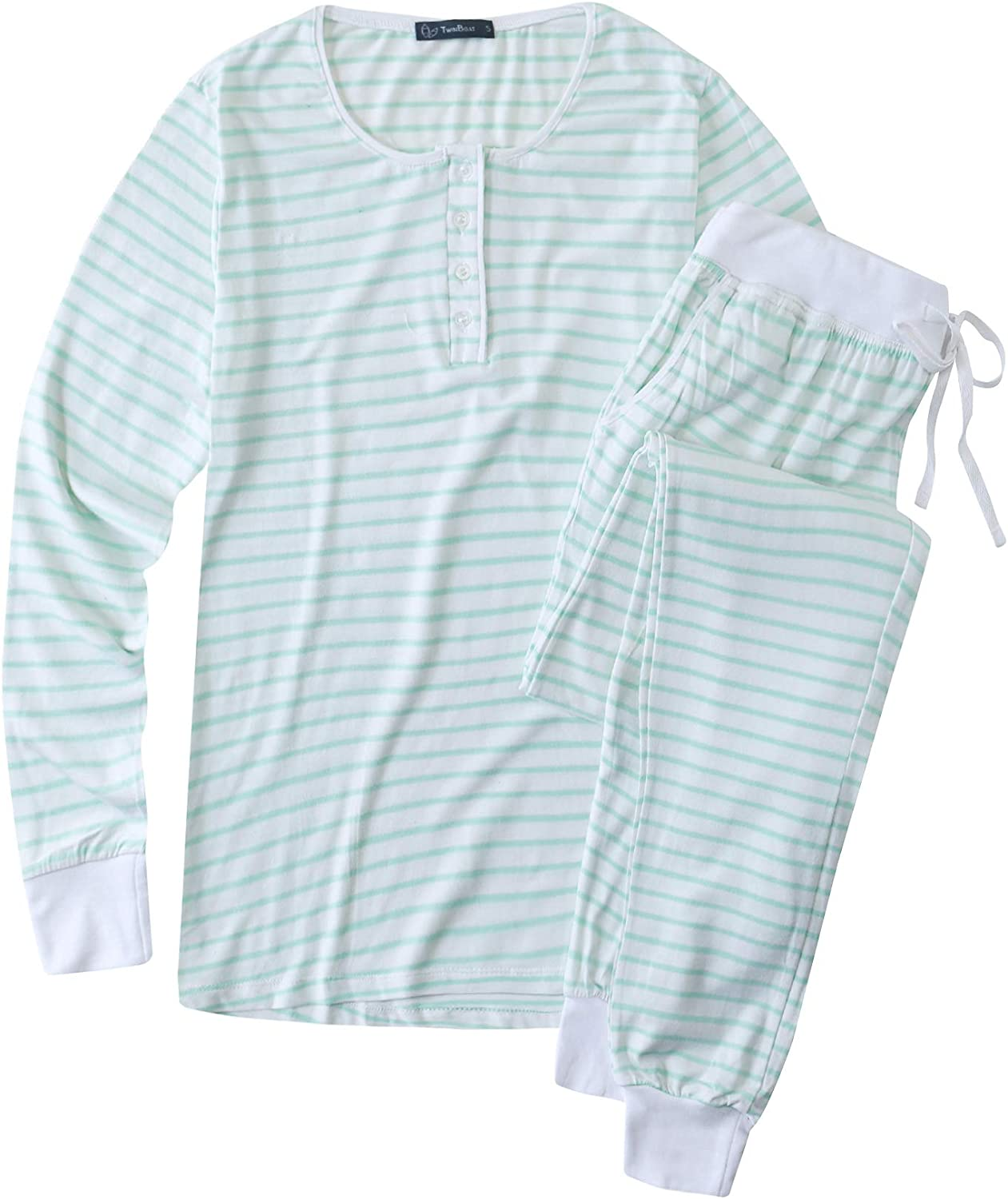 Noble Mount Twin Max 80% OFF Boat Super Soft Cotton for Pajamas - Women beauty product restock quality top Jers