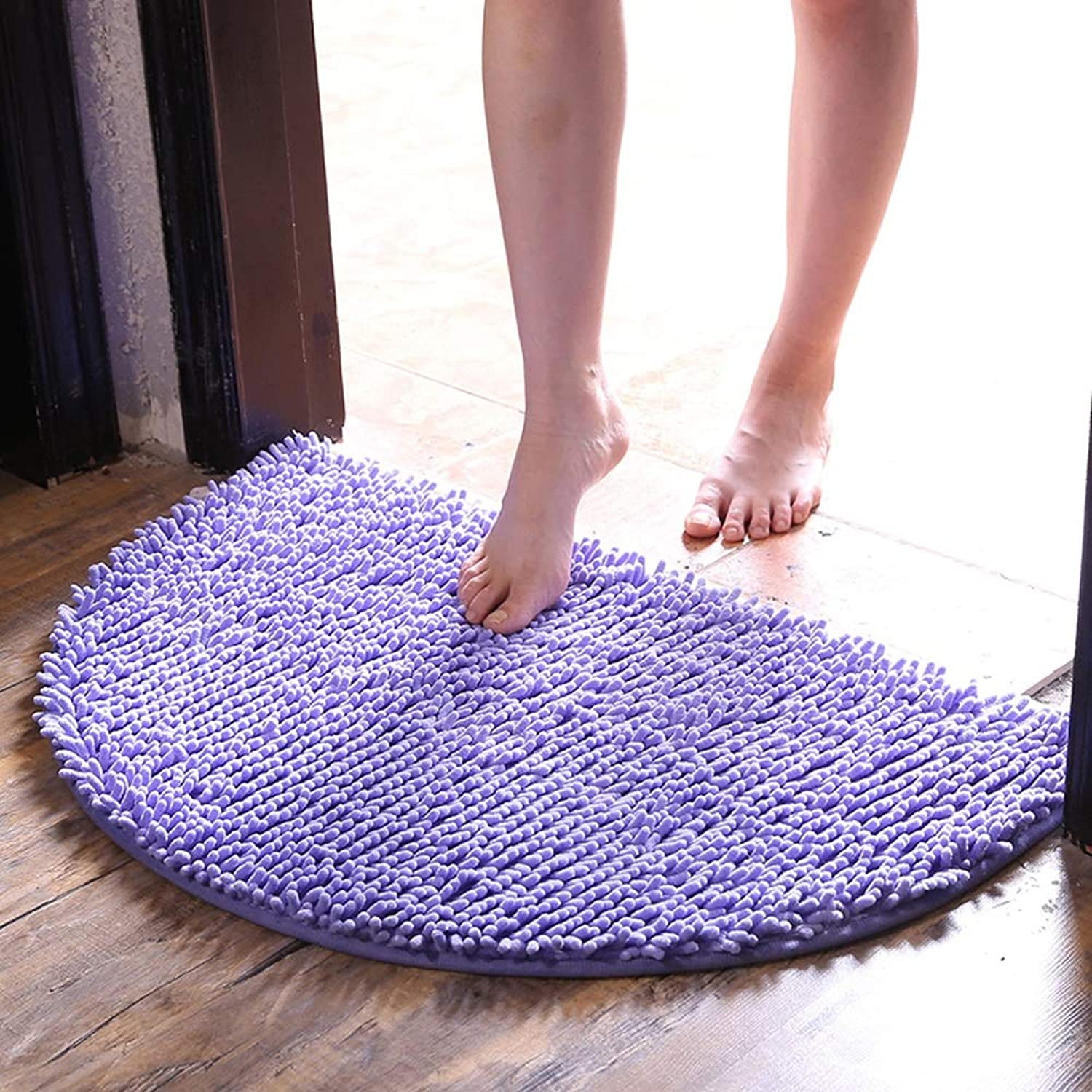 SHATONG-Carpet Entry Door Absorbent Foot Door mat Bathroom Bathroom Bathroom Door Non-Slip Foot mat (color   Purple, Size   40X60cm)