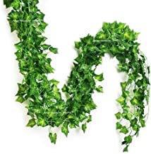SPHINX Artificial Leaves Garlands/Creepers for Decoration Length Approx. 6 ft (Mixed Shapes/Design as per Stock) - No. of ...