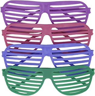 Unique Party 84743 - Neon Shutter Shade Glasses Party Bag Fillers, Pack of 4