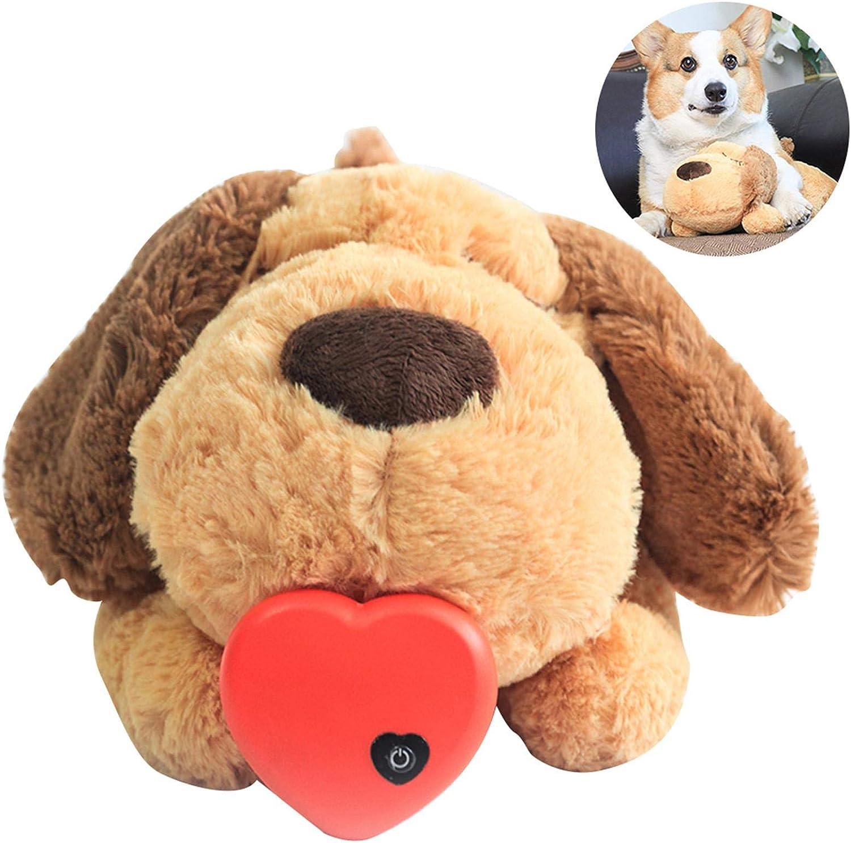 Peluche per animali domestici con battito cardiaco giocattolo per cani e animali domestici HUANRU per la separazione del cucciolo