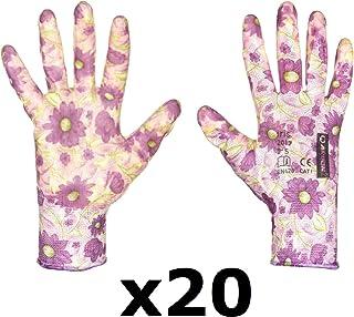 FLOWER Hermosos guantes de trabajo antideslizantes para