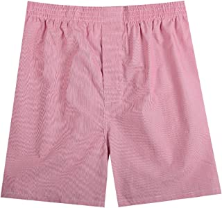 Pau1Hami1ton 1/3 Pack Men's Woven Boxer Shorts Cotton Trunks Button Plaid Briefs Checkered Underwear Multipacks B-01X