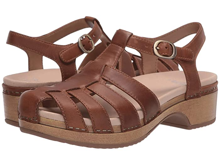 70s Shoes, Platforms, Boots, Heels Dansko Brie Brown Oiled Pull Up Womens Shoes $129.95 AT vintagedancer.com