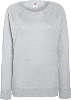 Fruit of The Loom Lady-fit Lightweight Raglan Sweatshirt Blank Plain SS960