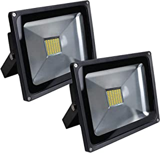 Security Light with SMD Technology Super Bright Led Floodlight 2X 50W Wall Light for Garden,Garages,Rooftop,Doorways,Backy...