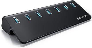 Primewire - Hub USB attivo a 7 porte - USB 3.2 Gen.1 - Con alimentatore - per PC Notebook Laptop Ultrabook Tablet PC MacBo...