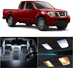 cciyu 10 Pack White LED Bulb LED Interior Lights Accessories Replacement Package Kit Replacement fit for 2014-2017 Nissan Frontier