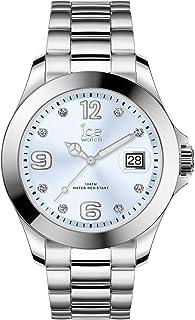 Ice-Watch - Ice Steel Light Blue With Stones - Montre Argent pour Femme avec Bracelet en Metal - 016775 (Medium)