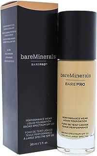 Bare Escentuals bareMinerals Barepro Performance Wear Liquid Foundation SPF 20 camel 17 for Women, 1 Ounce