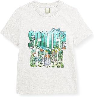 Scotch & Soda Short Sleeve Tee with Colourful Artwork T-Shirt Bambino