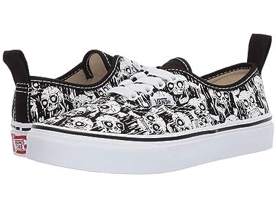 Vans Kids Authentic Elastic Lace (Little Kid/Big Kid) ((Glow Skulls) Black/True White) Boys Shoes