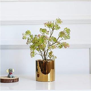 PAKUES-QO Plantes Artificielles en Pot Plantes Artificielles en Pot Faux Pistachier Plantes en Pot Intérieur Salon Décorat...