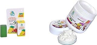 VANIA Combo of Rice Bran Spa Skin Polishing Scrub of 500 gm and Lemon and Tumeric Cleanser of 35 gm