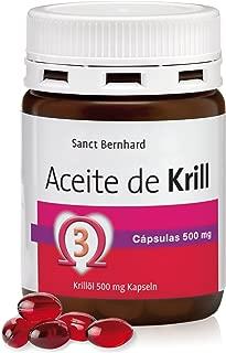 Aceite de Krill 500mg - 60 Cápsulas, 100% Neptune Krill Oil (NKO) fuente natural de Omega-3 del Antártico, con Astaxanthin