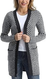 Rocorose Women's Long Sleeves Knitted Long Cardigan Sweater