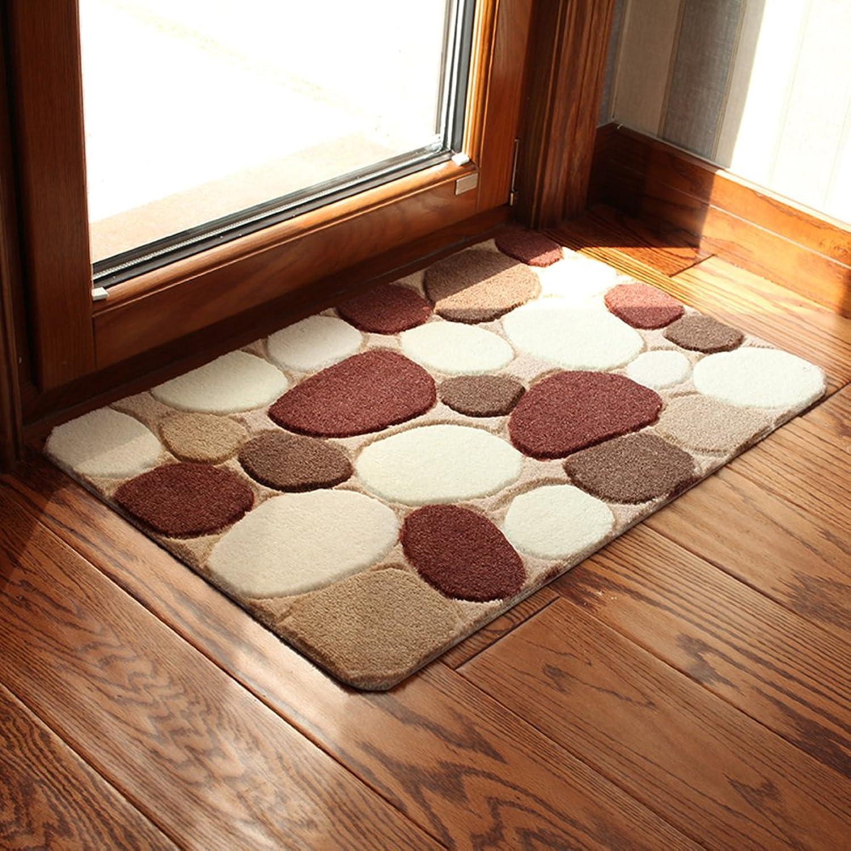 Bathroom Non-Slip mats Door mats Water-Absorption Door mat Foot Cushion in The Kitchen Bathroom mats in The Hall -B 80x120cm(31x47inch)