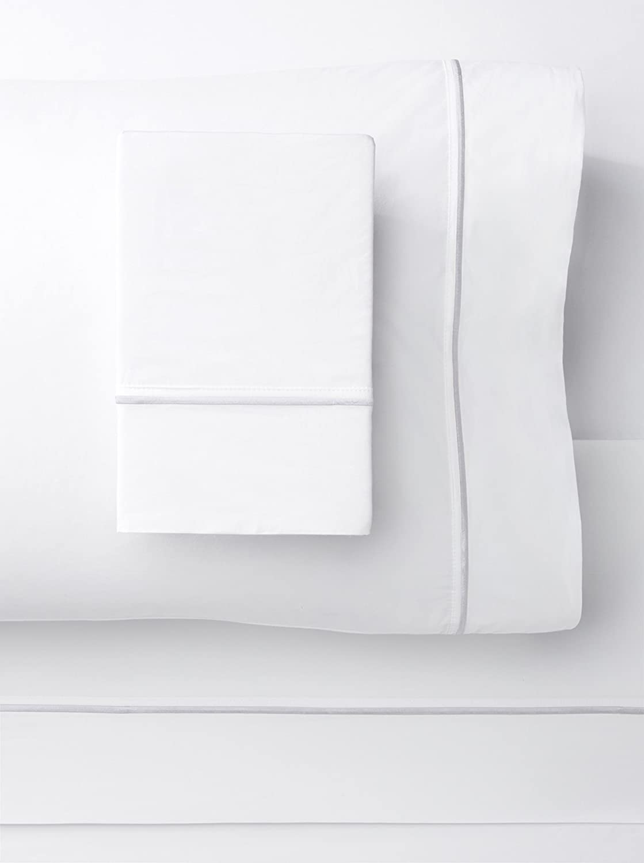 Mélange Home Melange Home 185733 Embroidered Sheet Set, Queen, White