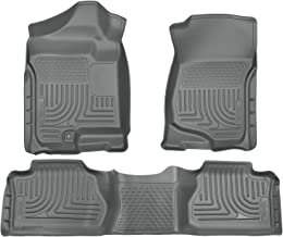 Husky Liners Fits 2007-13 Chevrolet Silverado/GMC Sierra 1500 Extended Cab, 2007-14 Chevrolet Silverado/GMC Sierra 2500/3500 Extended Cab Weatherbeater Front & 2nd Seat Floor Mats (Footwell Coverage)