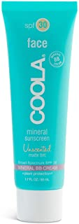 COOLA Mineral Matte Tinted Sunscreen & Sunblock, Skin Care for Daily Protection, Broad Spectrum SPF 30, Ree...