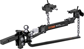 CURT 17063 MV Round Bar Weight Distribution Hitch with Sway Control Black Up to 14,000 lbs, 2-Inch Shank, 2-5/16-Inch Ball