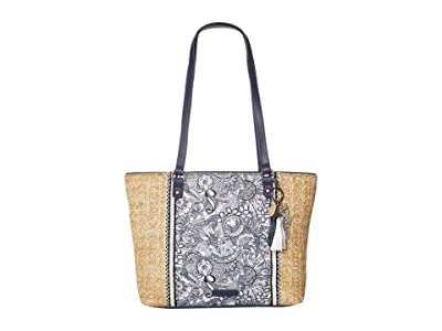 Sakroots Artist Circle Medium Satchel (Navy Spirit Desert 2) Satchel Handbags