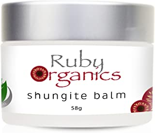 Ruby Organics Shungite Balm Moisturizer Made with 100 Percent Pure and Natural Ingredients for Face, Body, and Hands