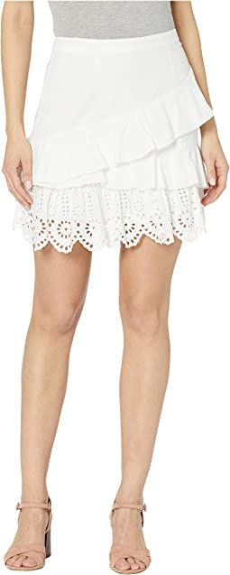 Ruffled Woven Mini Skirt