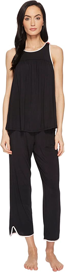 Kate Spade New York - Black Cropped PJ Set