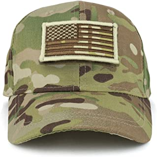 Trendy Apparel Shop Youth Military Camo Combat American Flag Patch On Tactical Cap
