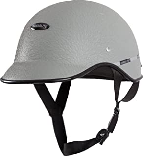 HabsoliteAll Purpose Half Face Safety Helmet with Quick Release Strap for Men & Women (Grey, Free Size)