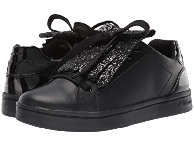 Geox Kids Jr Djrock 34 (Big Kid) (Black Oxford) Girls Shoes