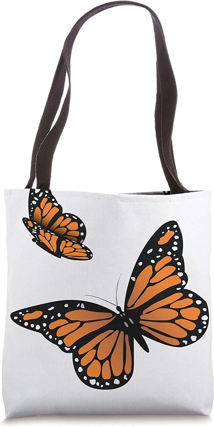 Monarch Butterfly Pair Of Monarch Butterflies Tote Bag