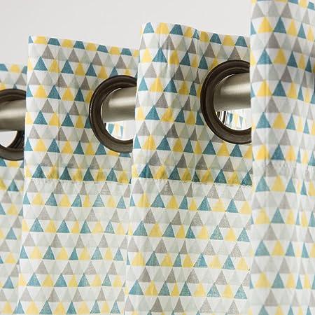 voilage motif triangles