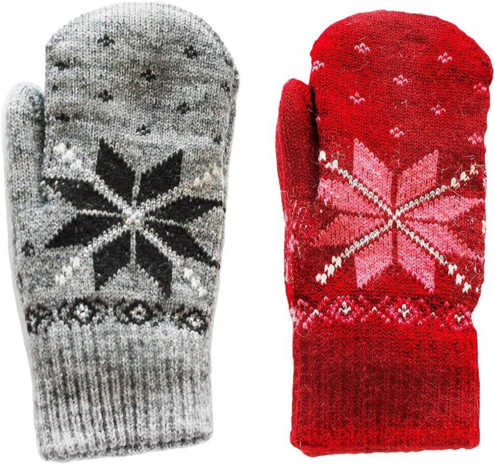 CERF BELL Gloves, Warmer Knitted Gloves (2 Pack)