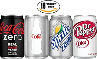 Coke Zero, Diet Coke, Sprite Zero, Diet Dr. Pepper - The Ultimate Diet Variety Pack!, 7.5 oz Cans (Total of 18 Cans)