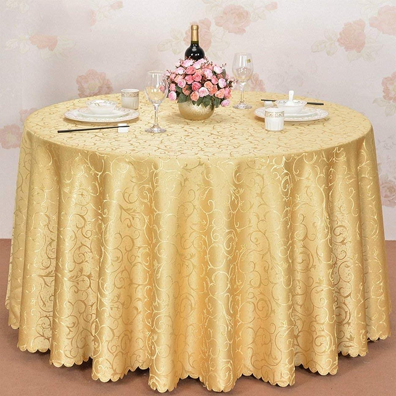 感嘆苦行発症QYM ヨーロッパのジャカード大きいテーブルクロス円形水レストランのレストラン円形テーブルクロス (サイズ : 300cm)
