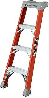 Louisville Ladder FH1504 Fiberglass Pro Shelf Ladder, Type IA, 300-Pound Load Capacity, 4-Feet