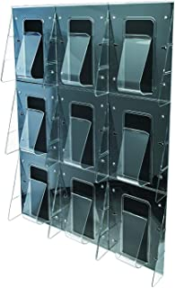 Marketing Holders 9 Pocket Wall Mount Magazine Literature Display Waiting Room Publication Paper Rack Pack of 1