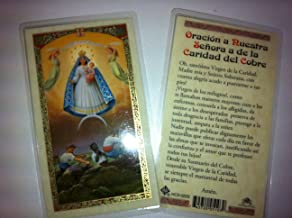 Holy Prayer Cards For Our Lady of Charity (Caridad de Cobre) set of 2 in Spanish