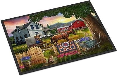 Caroline's Treasures Headed Home for Dinner Farm Door Mat doormats, Multicolor