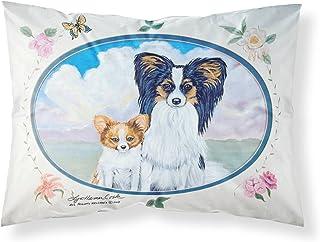 Caroline's Treasures 7243PILLOWCASE Papillion Moisture Wicking Fabric Standard Pillowcase, Large, Multicolor